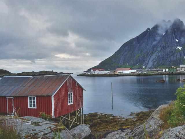 Tradisjonelt båthus på Vestlandet